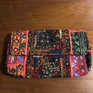 Handbags - Boho Mirrored embroidered patchwork clutch bag